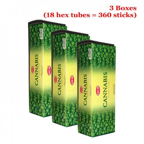 HEM CANNABIS 360 Sticks Bulk Incense, 3 Boxes - (360 sticks bulk per (Gulab Incense)