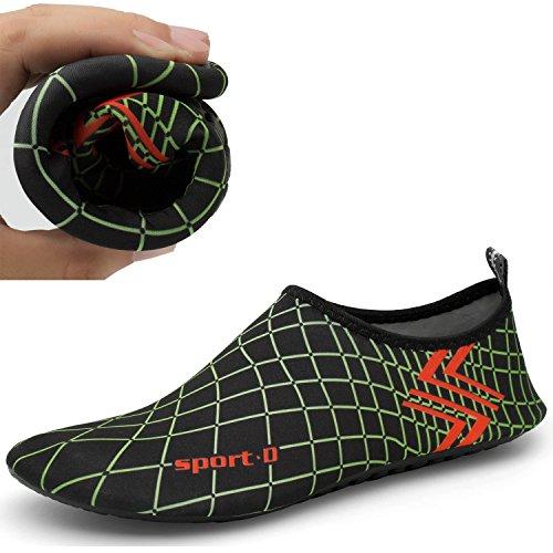 CASMAG Männer Frauen Quick-Dry Wasser Schuhe Barfüßig Aqua Socken Für Yoga Strand Schwimmen Pool Übung Surf Schwarz2