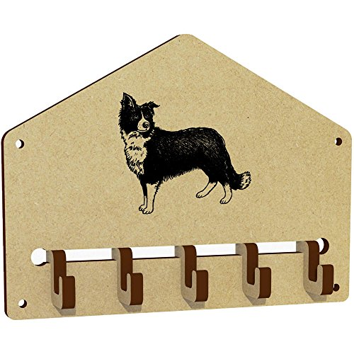 'Border Collie Sheepdog' Wall Mounted Key Hooks / Holder (WH00025107)