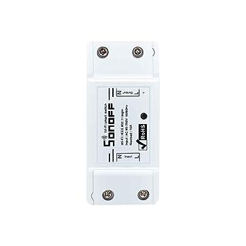 Mengonee Interruptor inteligente Wifi inalámbrico Control de APP Controlador domótico Interruptor inteligente de temporizador de módulo: Amazon.es: ...