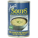 Amy's Soups, Mushroom Bisque with Porcini, 14 Ounce (Pack of 12) by Amy's