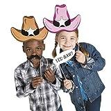 Fun Express Cardboard Western Accessories Costume Stick Props - 12 Pieces