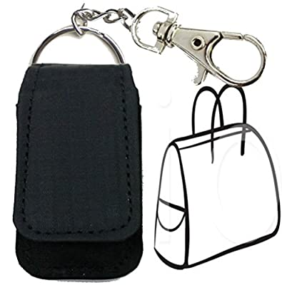 Keychain Case Pouch Keyring for Fitbit Flex / Fitbit One, fitbit zip, Misfit Shine flash, Withings Pulse O2, Sony Smartband. fit strap/ belt / bra middle up to 2 INCHES ONLY.