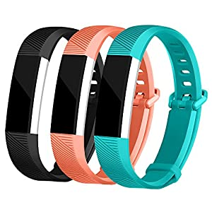 For Fitbit Alta Bands and Fitbit Alta HR Bands, Newest Adjustable Sport Strap Replacement Bands for Fitbit Alta and Fitbit Alta HR Smartwatch Fitness Wristbands Black Coral Teal Small