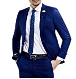 Botong Slim Fit Royal Blue Wedding Suits 2 Pieces Men Suits Groom Tuxedos