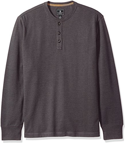 G.H. Bass & Co. Men's Carbon Long Sleeve Jersey Henley Shirt
