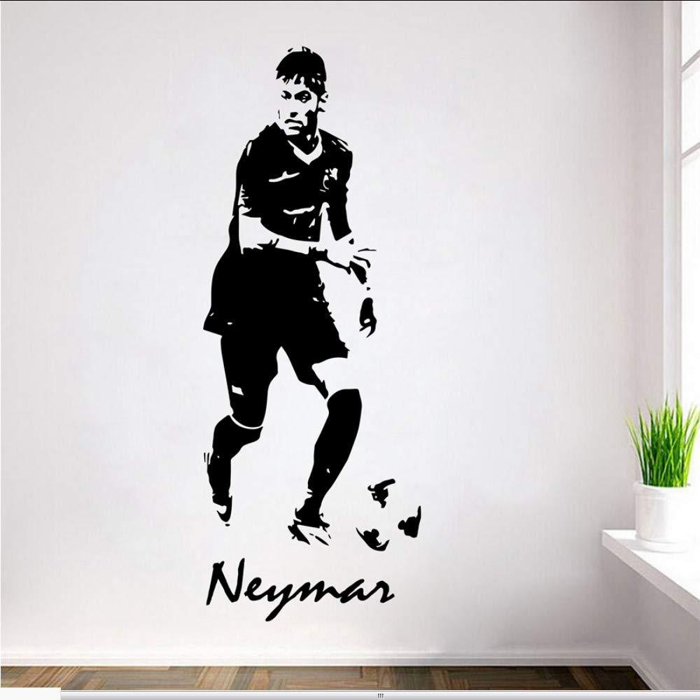 Waofe Fútbol Futbolista Neymar Vinilo Tatuajes De Pared Neymar ...