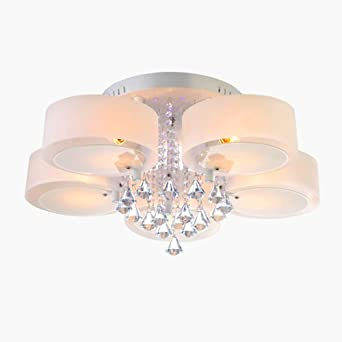 Moderna LED Simple acrílica regulable redonda lámparas de ...