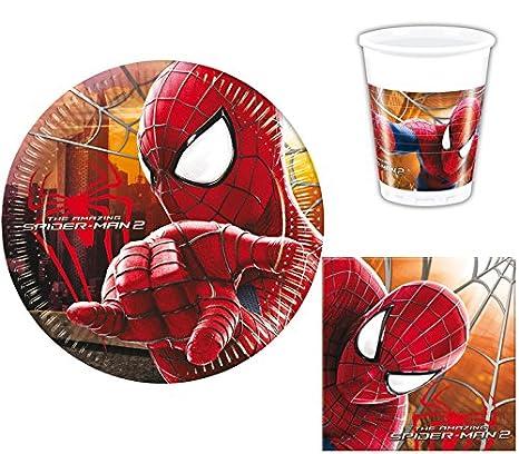 Marvel - Spiderman - Juego de Vajilla para fiestas ...