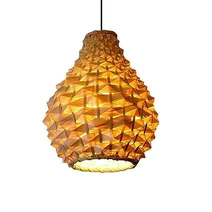 XUMINGDD Bambú Mimbre Lámparas de Techo Lámpara de Techo ...