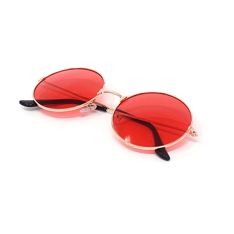 Ultra® oro enmarcado con rojo lentes adultos Retro redondas gafas de ...