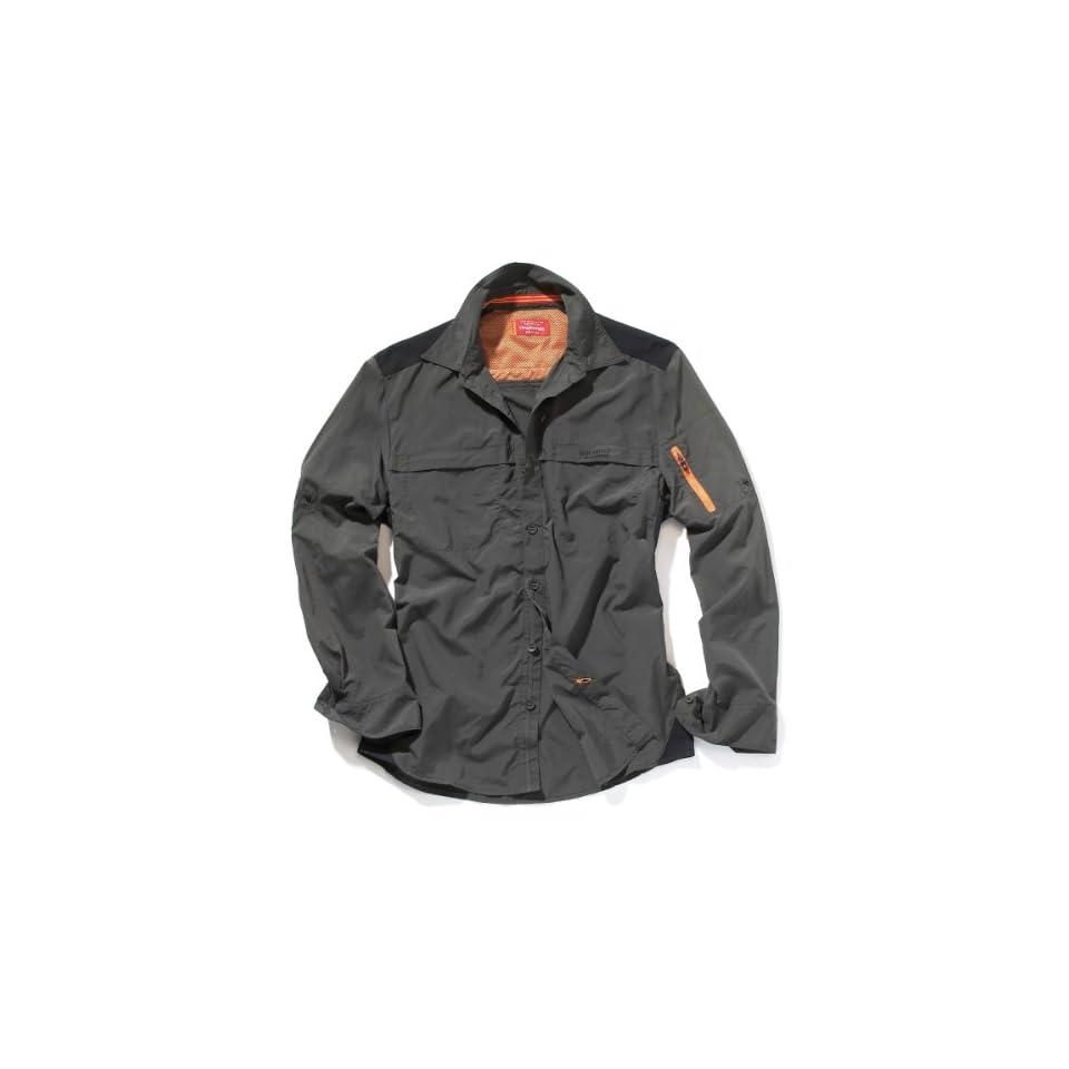 Bear Grylls Mens Trek Long Sleeved Shirt,Black Pepper,XX Large