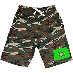 Men's Colorado State Weed Leaf V348 Camo Fleece Jogger Sweatpant Gym Shorts Medium Black