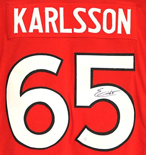 James Autographed Red Custom Jersey - Erik Karlsson Ottawa Senators Signed Autographed Red #65 Custom Jersey PAAS COA