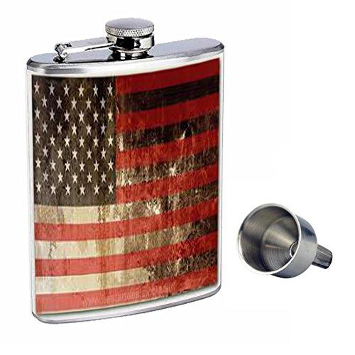 【全品送料無料】 ヴィンテージAmerican Flag Free Perfection inスタイル8オンスステンレススチールWhiskey Flask with d-005 Free Funnel d-005 Perfection B016XL8T2K, サンナイムラ:e759dbca --- cafestar.in