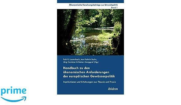 Ökonomische Instrumente im Kontext der europäischen Wasserrahmenrichtlinie (German Edition)