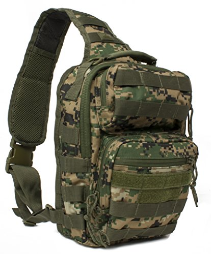 Red Rock Outdoor Gear Rover Sling Pack (Woodland (Woodland Camouflage Shoulder Bag)
