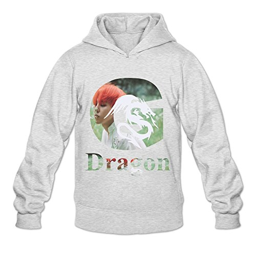 Soulya Men's GD G Dragon G-DRAGON BIGBANG MADE Spring Hoodies Sweatshirt Size XXL US Ash