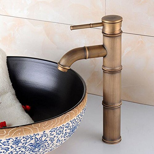 Tap Faucet Hot And Cold Tap Faucet Sink Mixer Tap SHIBST (Bamboo Faucet Combination)