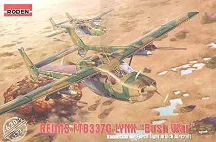 Plastic Model KIT Aircraft Reims FTB337G Lynx - Bush WAR 1/32 Scale Roden  628
