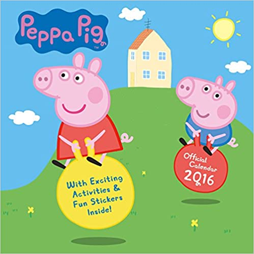 Ebook téléchargement gratuit The Official Peppa Pig 2016 Square Calendar PDB