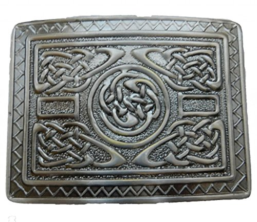 Scottish Kilt belt buckle #12 Antiqued Black Finish (Back Antique)