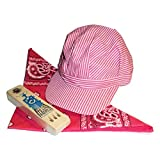 train conductor hat and whistle - RTD Trading Super Deluxe Pink Train Engineer Hat Scarf Whistle Set for Girls