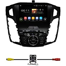 """BlueLotus® 8"""" 1 Din Android 5.1 Quad Core Car DVD GPS Navigation for Ford Focus 2012 2013 2014 w/ TV Radio Bluetooth+WIFI+SWC+RDS+AV+AUX IN+ Free Backup Camera+Free USA Map"""