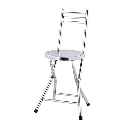 Tremendous Amazon Com Qidi Folding Chair Small Bench Backrest Theyellowbook Wood Chair Design Ideas Theyellowbookinfo