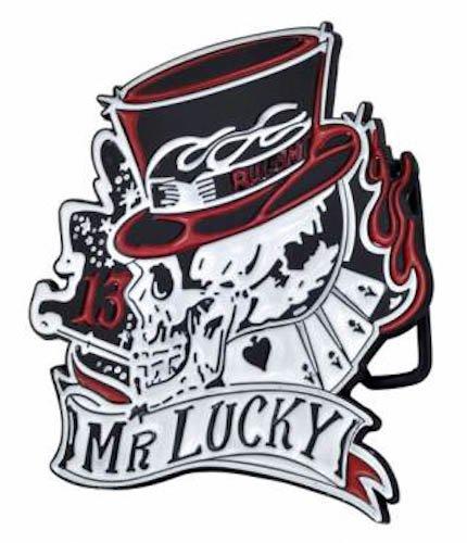Mr Lucky Skull Top Hat Belt Buckle Lucky 13 Tattoo Amazoncouk