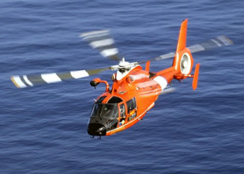 Posterazzi Poster Print Collection a Coast Guard HH-65A Dolphin Rescue Helicopter in Flight Stocktrek Images, (17 x 11), Multicolored