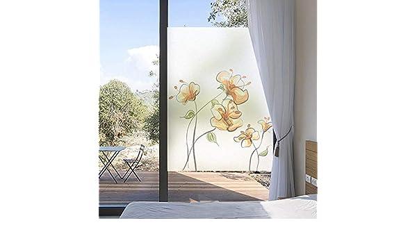 3D Película De Ventana Película para Ventanas Windows película de vidrio esmerilado electrostática pintada a mano flor amarilla cocina ventana estática pegatinas de flores puerta corredera pegatin: Amazon.es: Hogar