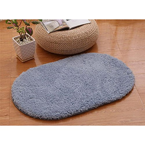 Money coming shop Super Magic Slip-Resistant Pad Soft Room Oval Carpet Floor Tapis Salon Mats 40*60CM - Caron Simply Soft Yarn Charcoal