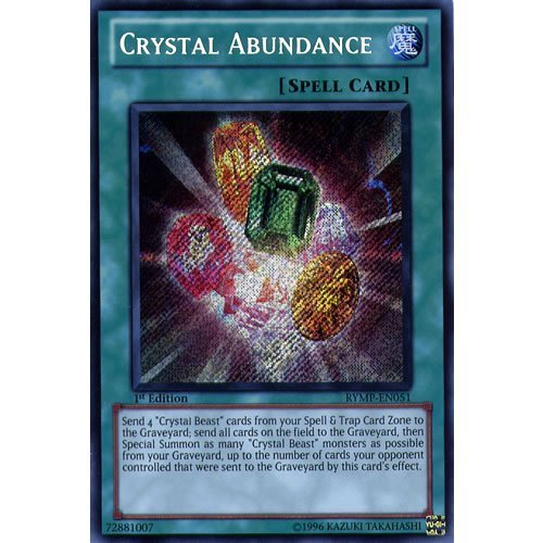 YuGiOh : RYMP-EN051 1st Ed Crystal Abundance Secret Rare Card - ( Ra Yellow Mega Pack Yu-Gi-Oh! Single Card ) by Deckboosters (Crystal Abundance compare prices)