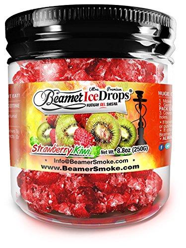 StrawBerry Kiwi 250G Ultra Premium Beamer Ice Drops Hookah Shisha Smoking Gel. Each bowl lasts 2-4 Hours! USA Made, Huge Clouds, Amazing Taste! Better Taste & Clouds than Tobacco!
