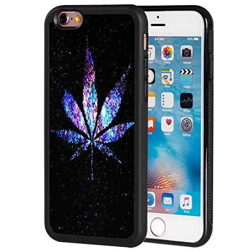 iPhone 6S Case,iPhone 6 Case,AIRWEE Slim Anti-Scratch Shockproof Silicone TPU Back Protective Cover Case for Apple iPhone 6/6S 4.7 inch,Galaxy Weed Leaf (Weed 6 For Phone I Cases)