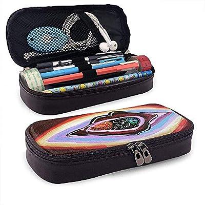 Arcoiris, colores, ojos, órganos Estuche de cuero para lápices lindo - Estuche para lápices Organizador de papelería Bolsa de maquillaje, soporte perfecto: Amazon.es: Oficina y papelería