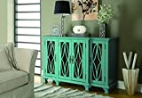 Coaster Home Furnishings 4-Door Cabinet Teal Blue