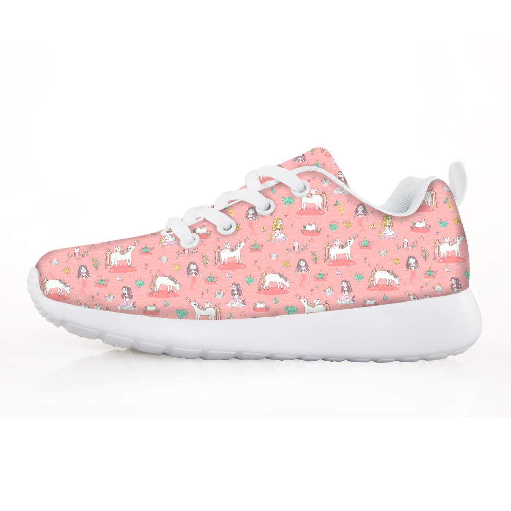 Boys Girls Casual Lace-up Sneakers Running Shoes Unicorn Mermaid Frog Prince