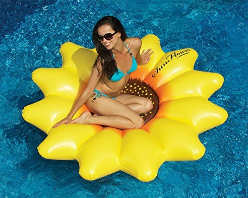 72 Water Sports Inflatable Sunflower Island Novelty Swimming Pool Float Raft by Swim Central