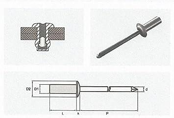 4,0x8 mm Blindnieten Popnieten CUP-Alu//Stahl Luft und Wasserdicht Flachrundkopf 100 St/ück
