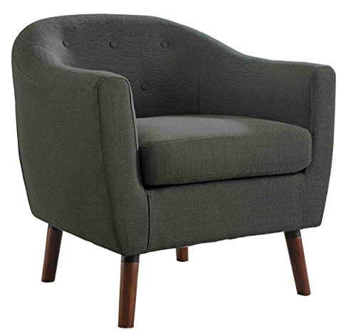 Homelegance Lucille Fabric Upholstered Pub Barrel Chair, Gray - Barrel Club Chair
