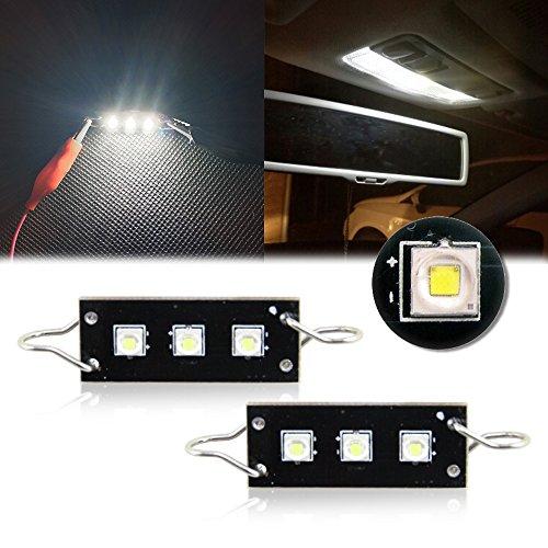 2pcs CREE Rigid TWISTED Loop Festoon LED Bulbs Car Interior Lights 1.73 44mm 43mm 561