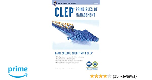 CLEP® Principles of Management Book + Online (CLEP Test