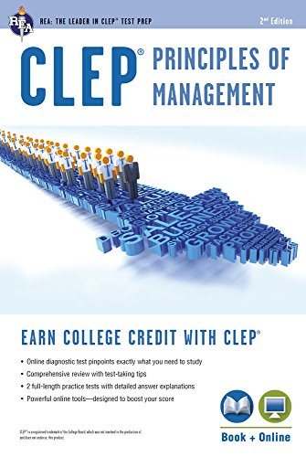 CLEP® Principles of Management Book + Online (CLEP Test Preparation)