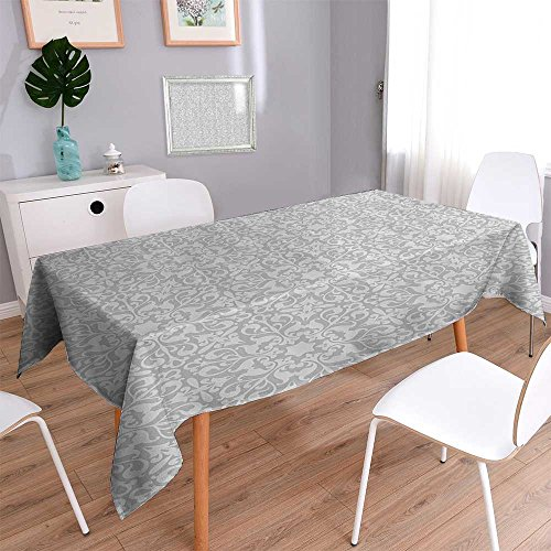 Vanfan Natural Tablecloth Floral Motifs Arabian Islamic Patterns in Mod Oriental Regular Home Use, Machine Washable 55''x55'' by Vanfan