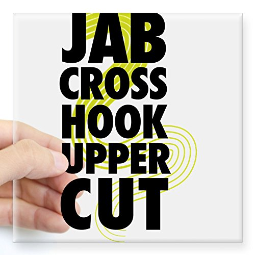 CafePress - Jab Cross Hook Upper-cut Sticker - Square Bumper Sticker Car Decal, 3