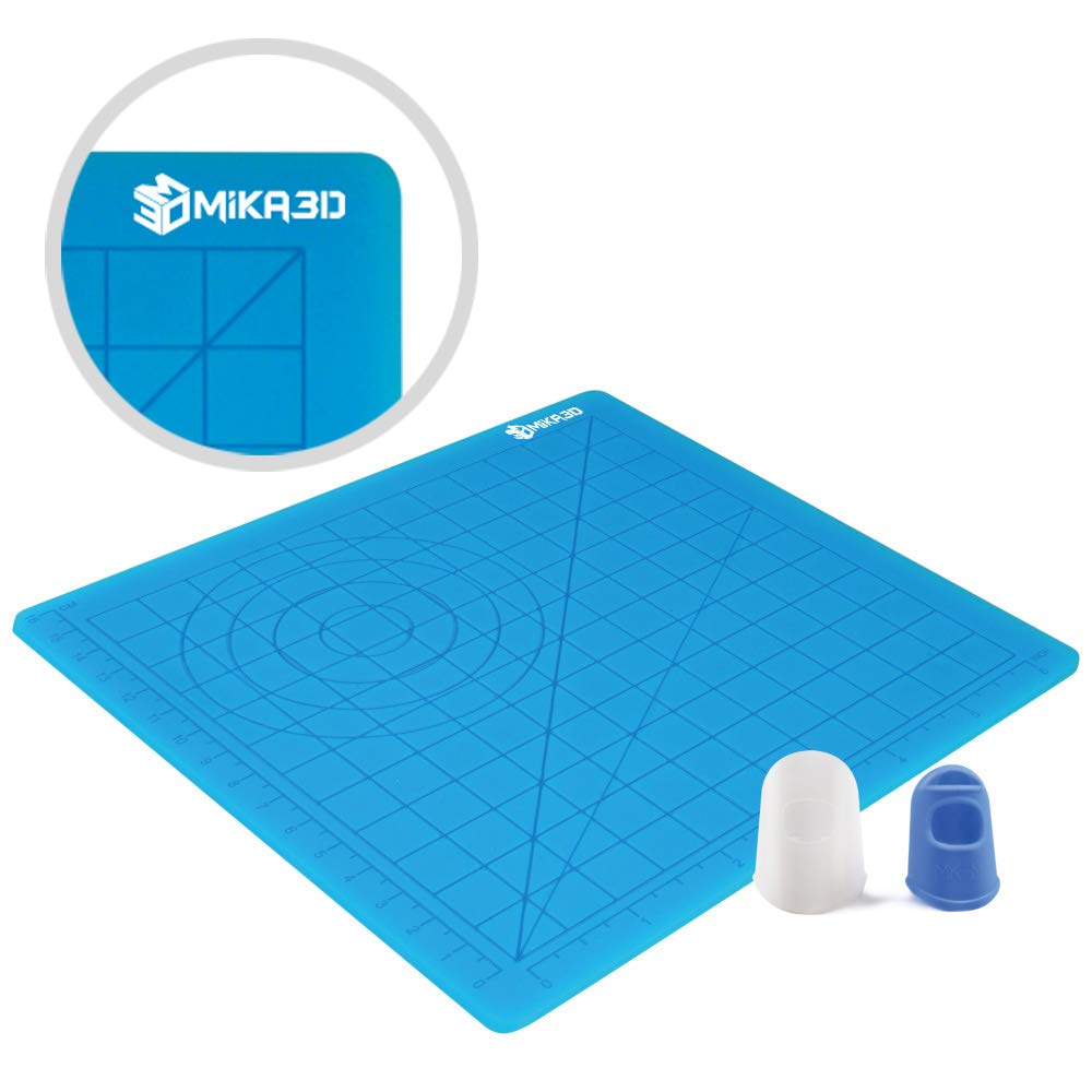 3D Printing Pen Silicone Design Mat with Basic Template, with 2 Silicone Finger Caps, Great 3D Pen Drawing Tools MIKA3D