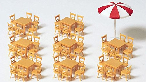 Preiser 17201 8 Tables & 48 Chairs Includes Umbrella HO Scale Scenery  Set