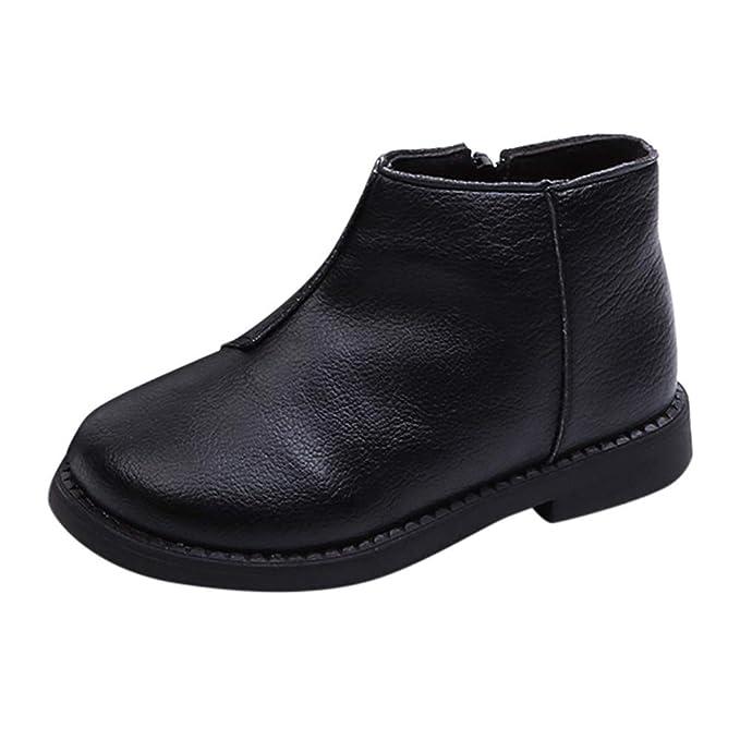 1e7dc56389ec Vovotrade Kinder Winterstiefel Dick Warme Stiefel Stiefel Winter Schuhe  Gummi Fußsohlen,Jungen Mädchen Einfarbig 24-28.5 EU  Amazon.de  Bekleidung